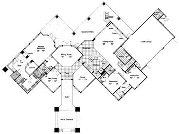 Unique House Plans 1st floor plan Floor Plan