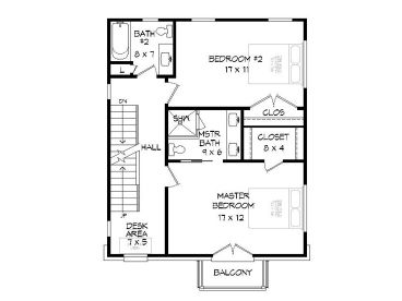 2nd Floor Plan, 062G-0135
