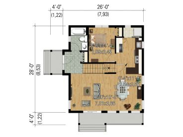 1st Floor Plan, 072H-0211