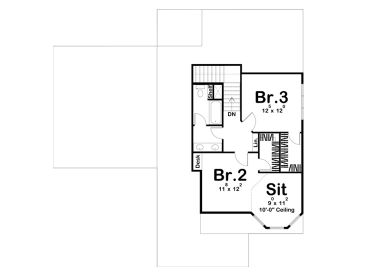 2nd Floor Plan, 050H-0349
