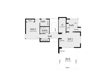 2nd Floor Plan, 052H-0002
