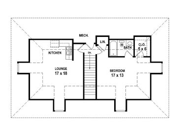 Garage Apartment Plans | 4-Car Garage Apartment Plan # 006G-0099 at ...