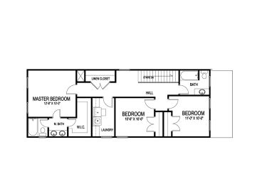 Bungalow floor plans for narrow lots for Narrow bungalow house plans