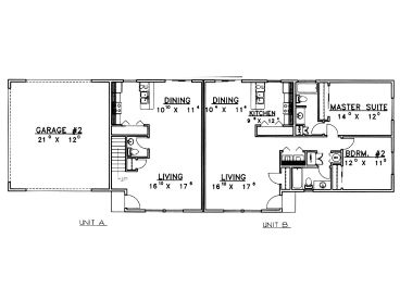 1st Floor Plan, 012M-0003