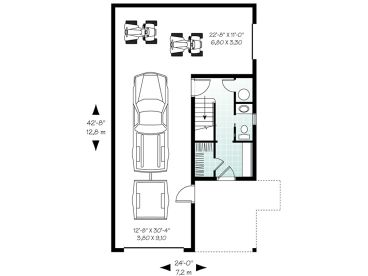 Garage Apartment Plans | Carriage House Plan with Tandem Bay ... on summer cottage plans, strip mall plans, log cabin plans, ranch modular homes, townhouse plans, ranch style homes, 3 car garage plans, ranch backyard, floor plans, ranch art, ranch luxury homes, ranch log homes,