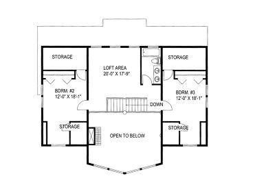 2nd Floor Plan, 012H-0127