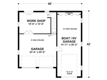 1st Floor Plan, 007G-0012