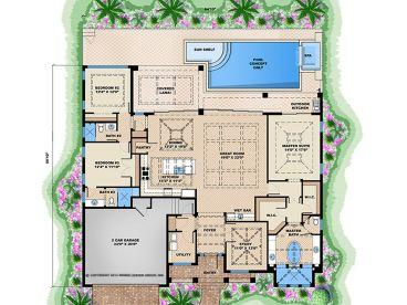 floor plan - West Indies House Plans
