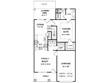 1st Floor Plan, 019H-0201