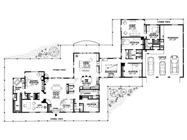 Plan 057h 0037 find unique house plans home plans and for Sprawling ranch floor plans