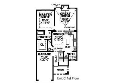 1st Floor Plan C