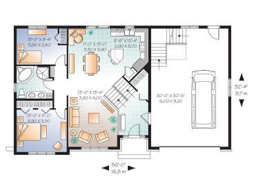 Split level layout house