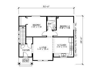 Garage apartment plans 1 story garage apartment plan for Shop with living quarters plans