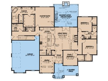 1st Floor Plan, 074H-0137