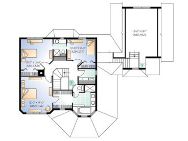 2nd Floor Plan, 027H-0059