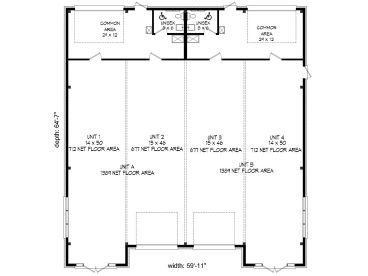 Commercial Building Plans | Strip Mall Design with Office or