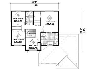 2nd Floor Plan, 072H-0163