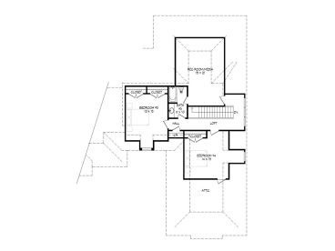 2nd Floor Plan, 062H-0075