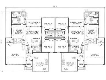 Large Duplex House Plans Get House Design Ideas