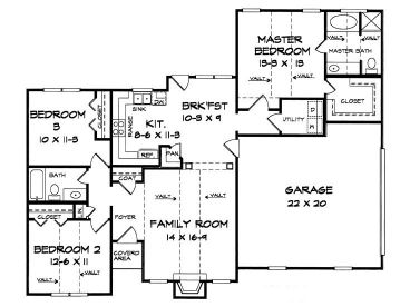 1350 sq ft house plans single story 2 bedroom popular for 12000 sq ft house plans