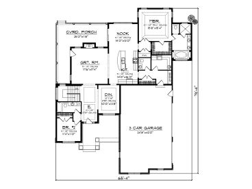 Empty nester house plans stunning left side elevation for Empty nester house plans with basement