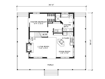 Mountain House Plans Small Mountain Home Plan Design 008H 0045