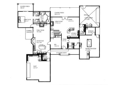 1st Floor Plan, 012H-0216