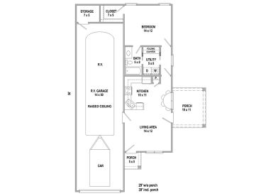 Rv Garage Plans Garage Apartment Plan With Attached Rv