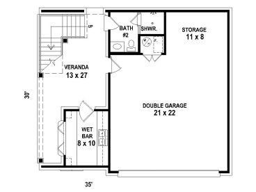 Garage Apartment Plans Carriage House Plan with Double Garage
