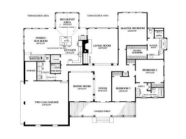 1st Floor Plan, 063H-0020