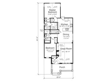 Empty nester bungalow floor plans gurus floor for Luxury empty nester house plans