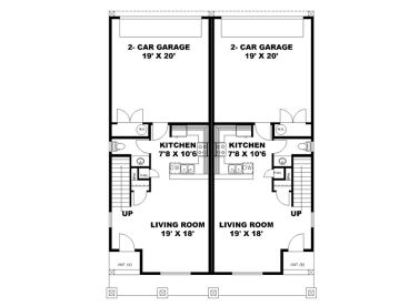 1st Floor Plan, 012M-0009