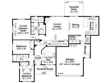 1st Floor Plan, 051H-0249