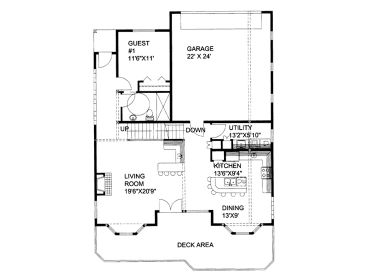 1st Floor Plan, 012H-0134