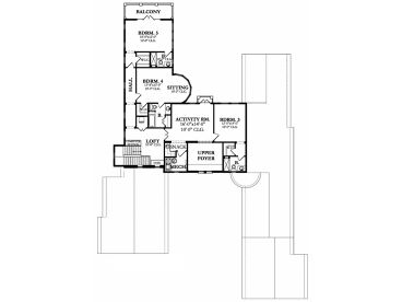 2nd Floor Plan, 064H-0091