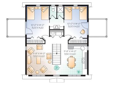 Garage Apartment Plans | 2-Car Carriage House Plan with Gambrel Roof ...