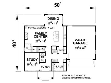 1st Floor Plan, 031H-0267
