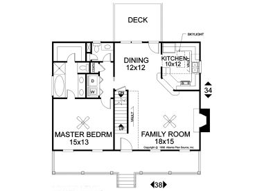 1st Floor Plan, 007H-0025