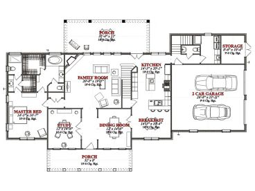 1st Floor Plan, 073H-0059