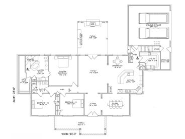 Handicap Accessible House Plans | 3 bedroom Ranch Home Plan # 062H ...