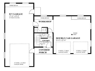 RV Garage Plans | RV Garage Plan with Future Apartment Design ...