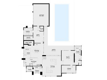 1st Floor Plan, 052H-0106