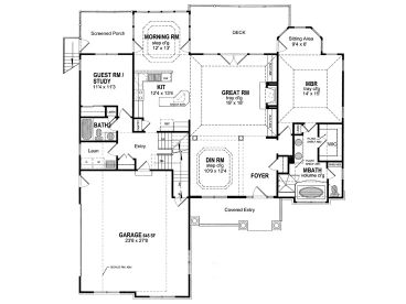 1st Floor Plan, 014H-0014