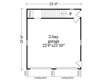 Garage Apartment Plans 2Car Garage Studio Apartment 053G