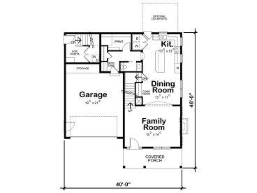 1st Floor Plan, 031H-0367
