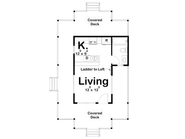 1st Floor Plan, 050H-0139
