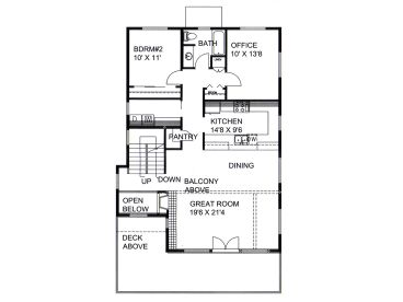 1st Floor Plan, 012H-0227