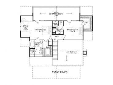 2nd Floor Plan, 062H-0029