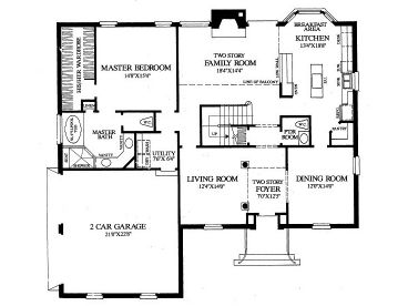 1st Floor Plan, 063H-0004