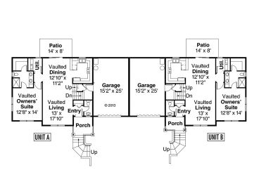 1st Floor Plan, 051M-0021